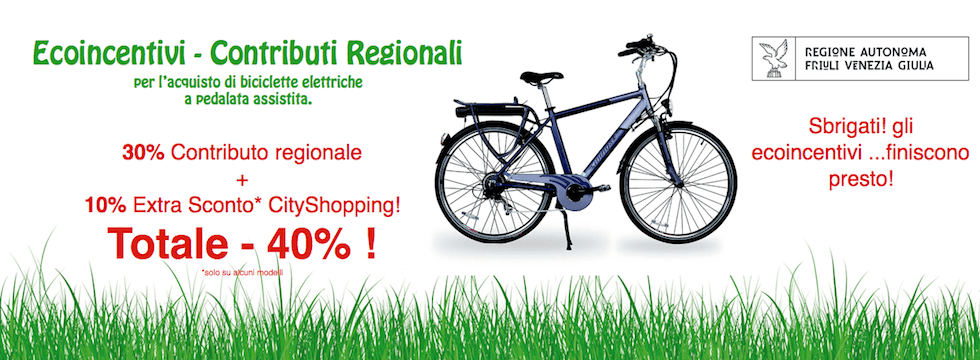 contributo regionale bicilette elettriche - cityshopping